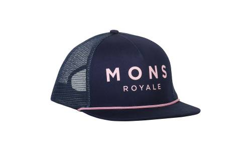 Mons Royale The ACL Trucker Cap Dark denim / powder pink