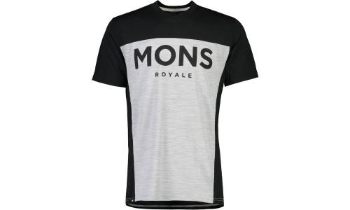 Mons Royale Redwood Enduro VT Black grey marl triko
